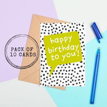 Bright Birthday Cards - Speech Bubble Style