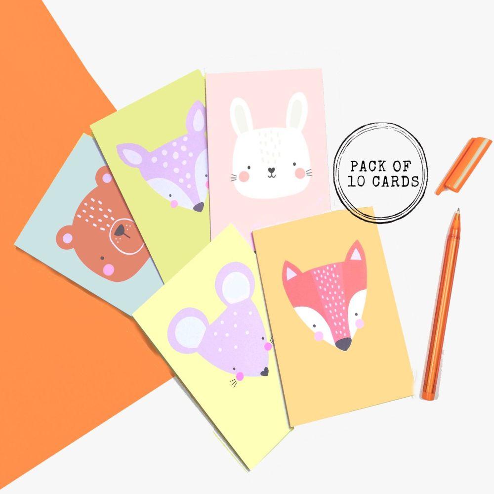 <!-- 011 --> Cartoon Woodland Animal Cards