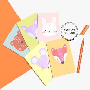 Cartoon Woodland Animal Cards