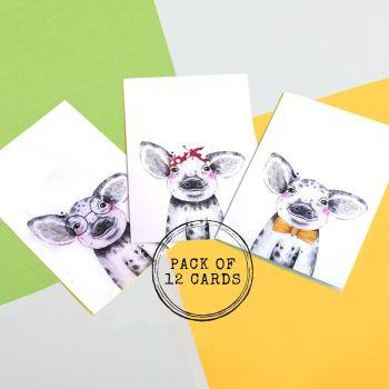 Pig Card Set