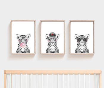 Nursery Prints - Tiger Trio