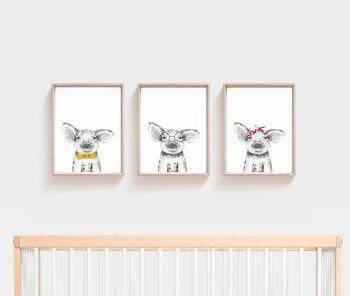 Nursery Prints - Pig Trio