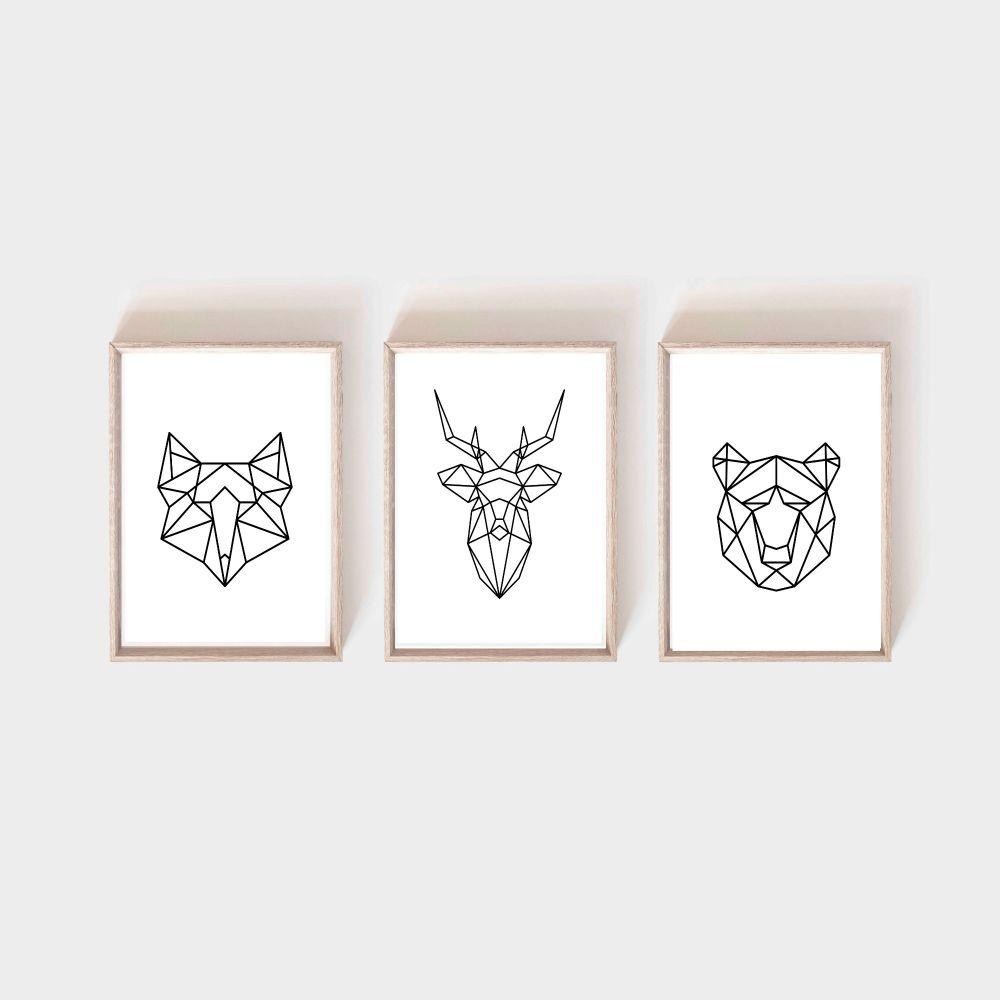 <!-- 057 --> Geometric Woodland Animals