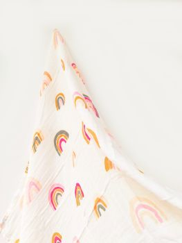 Organic Cotton Muslin - Rainbow