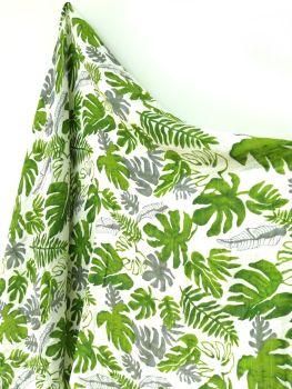 Organic Cotton Muslin - Tropical Leaf