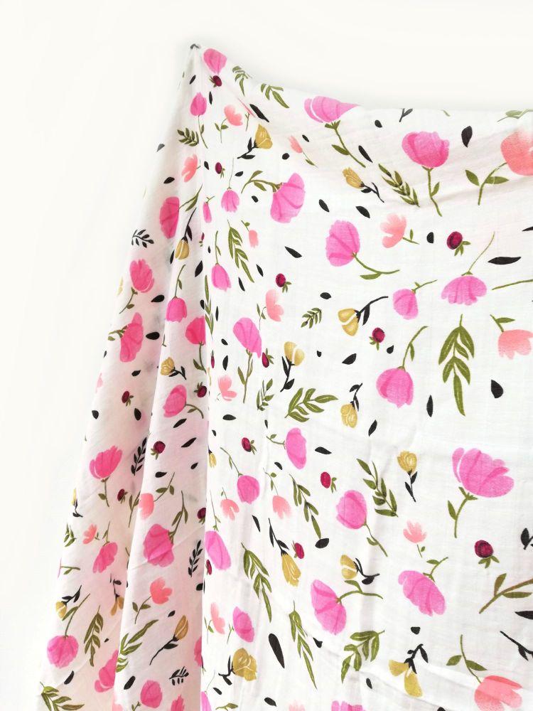 Organic Cotton Muslin - Bloom