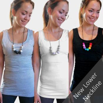 Breastfeeding Vest - Multipack of 3  -  Lower Neckline