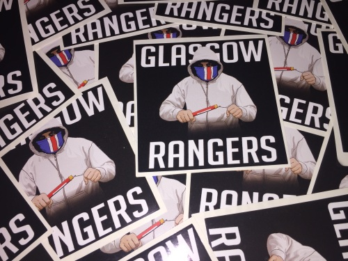 Glasgow rangers ultra stickers