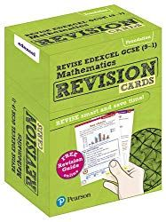 GCSE math revision cards