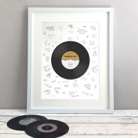 Record Personalised Wedding Guest Book Print Alternative