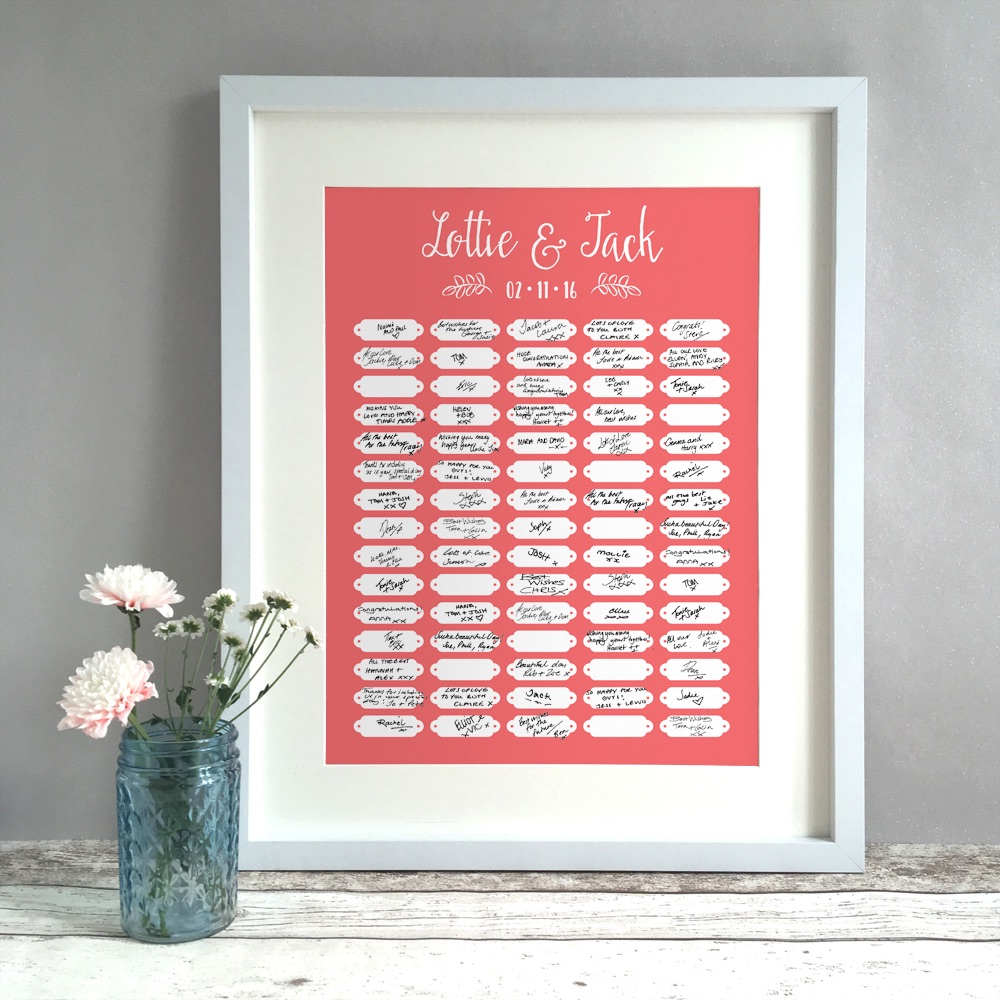 Tags Personalised Wedding Guest Book Print Alternative
