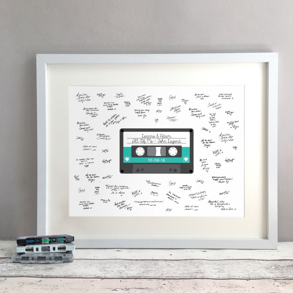 Tape Personalised Wedding Guest Book Print Alternative