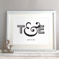 Ampersand Personalised Wedding Anniversary New Home Gift Print