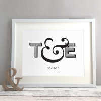 Ampersand Personalised Wedding Anniversary New Home Gift Print