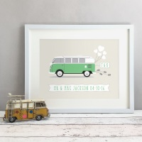Campervan Personalised Wedding Gift Print