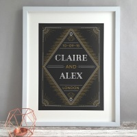 Deco Personalised Wedding Gift Print