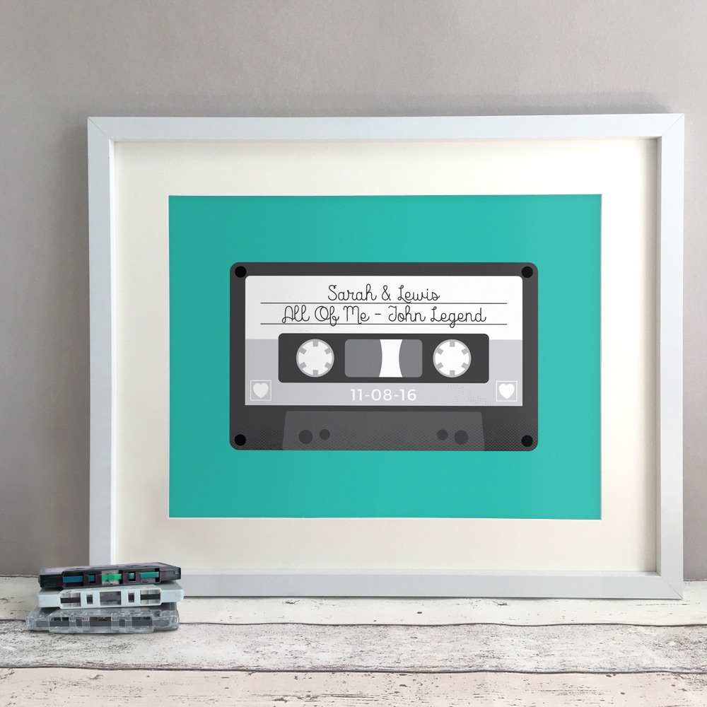 Tape Personalised Wedding Gift Print