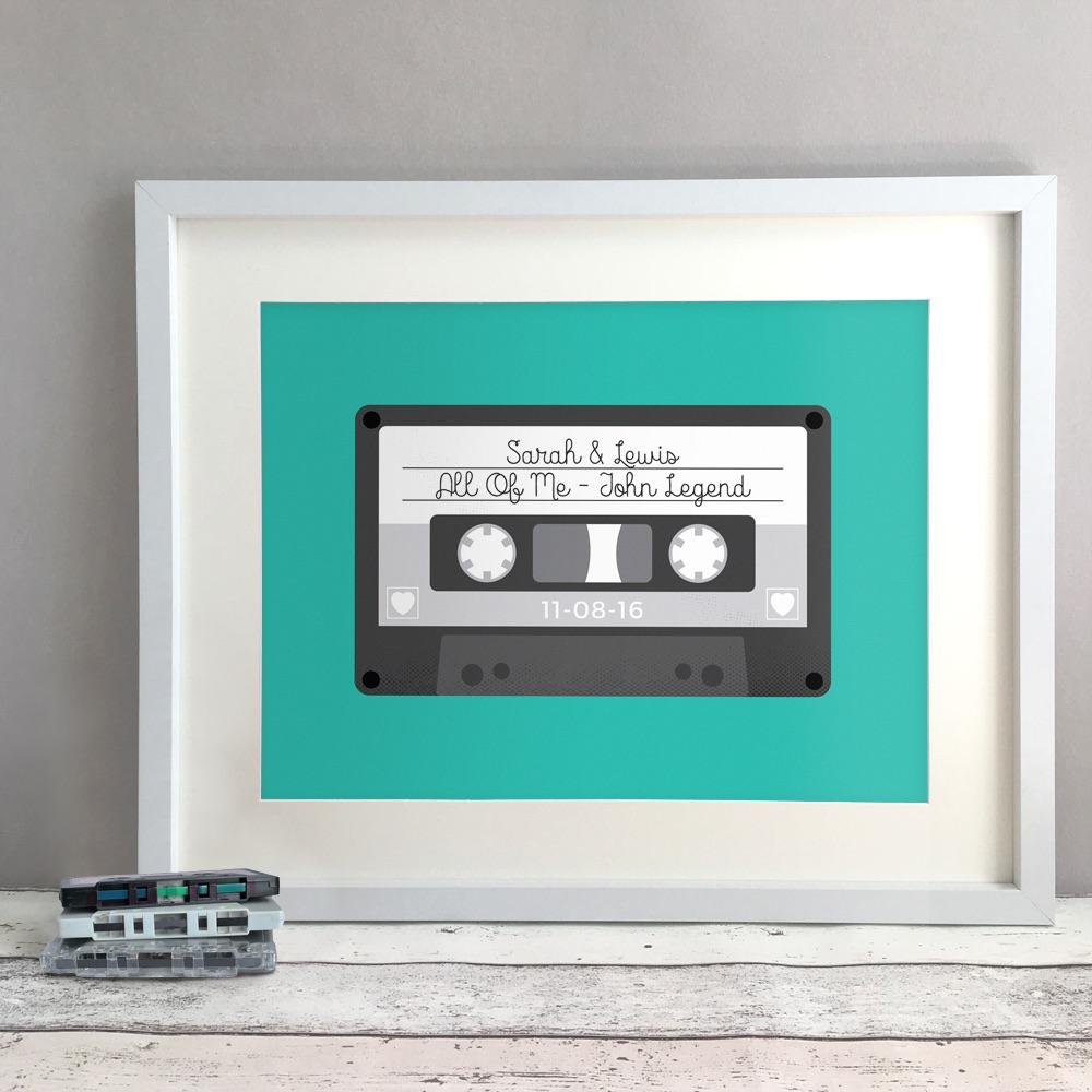 Tape Personalised Wedding Gift Print