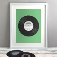 Record Personalised Wedding Gift Print