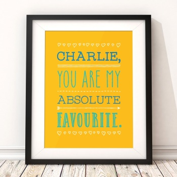 My Favourite Friend Partner Personalised Print