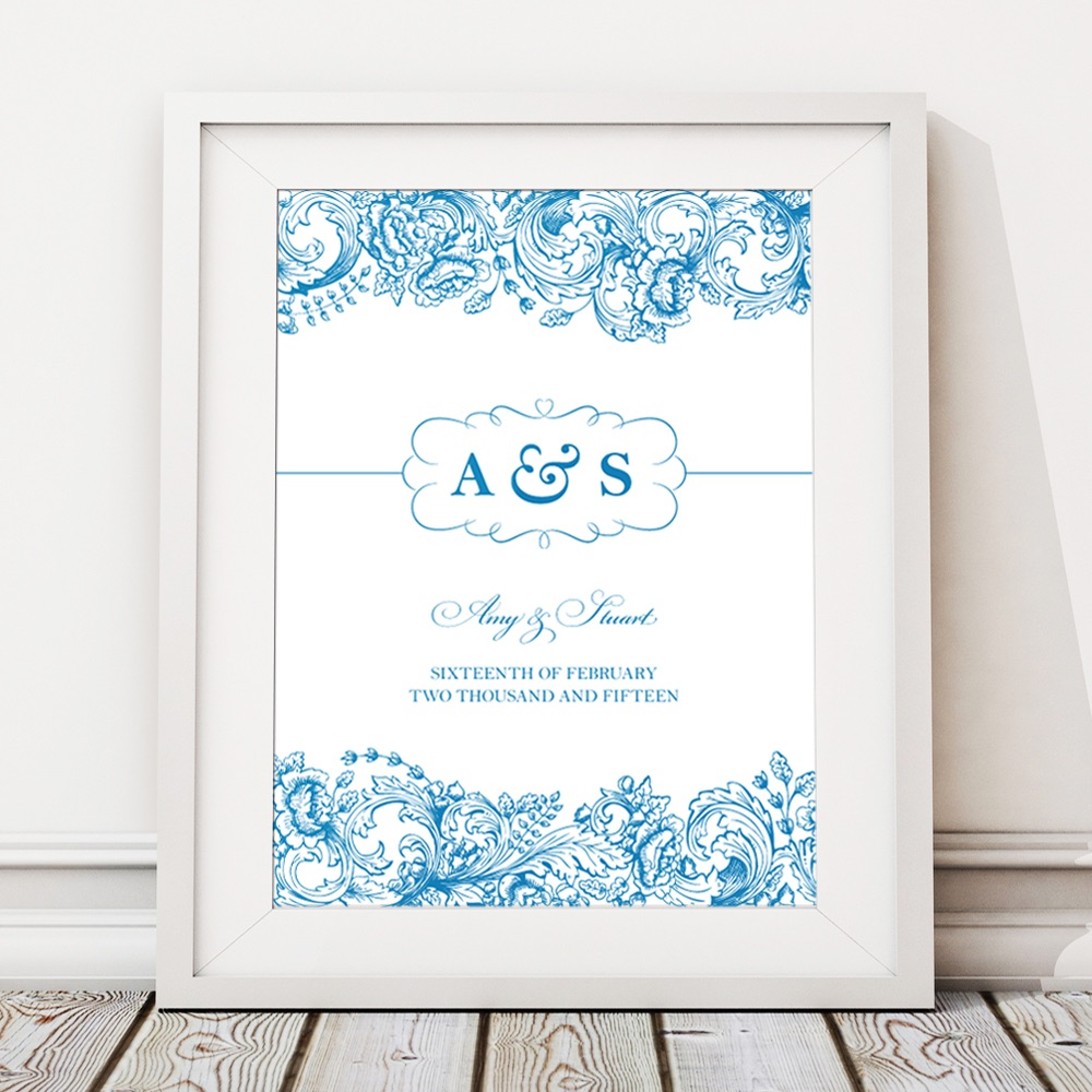 Toile Personalised Wedding Gift Print