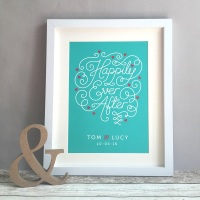 Happily Ever After Personalised Wedding Gift Print