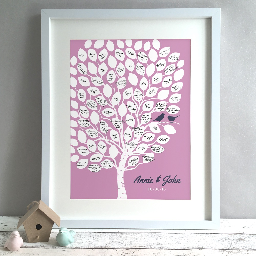 Tree Personalised Wedding Guest Book Print Alternative
