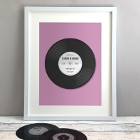Record Personalised Anniversary Gift Print