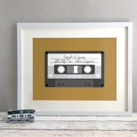 Tape Personalised Anniversary Gift Print