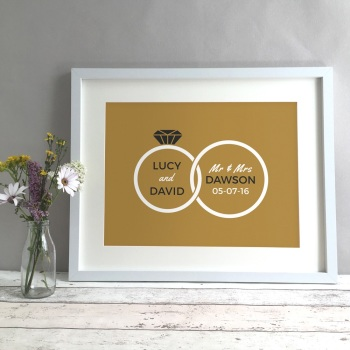 Rings Personalised Anniversary Gift Print