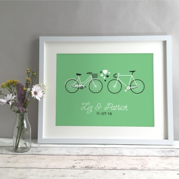 Bikes Personalised Anniversary Gift Print
