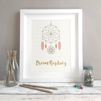 Dreamcatcher Personalised Print