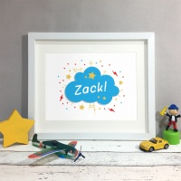 Comic Book Name Kids Room Personalised Print