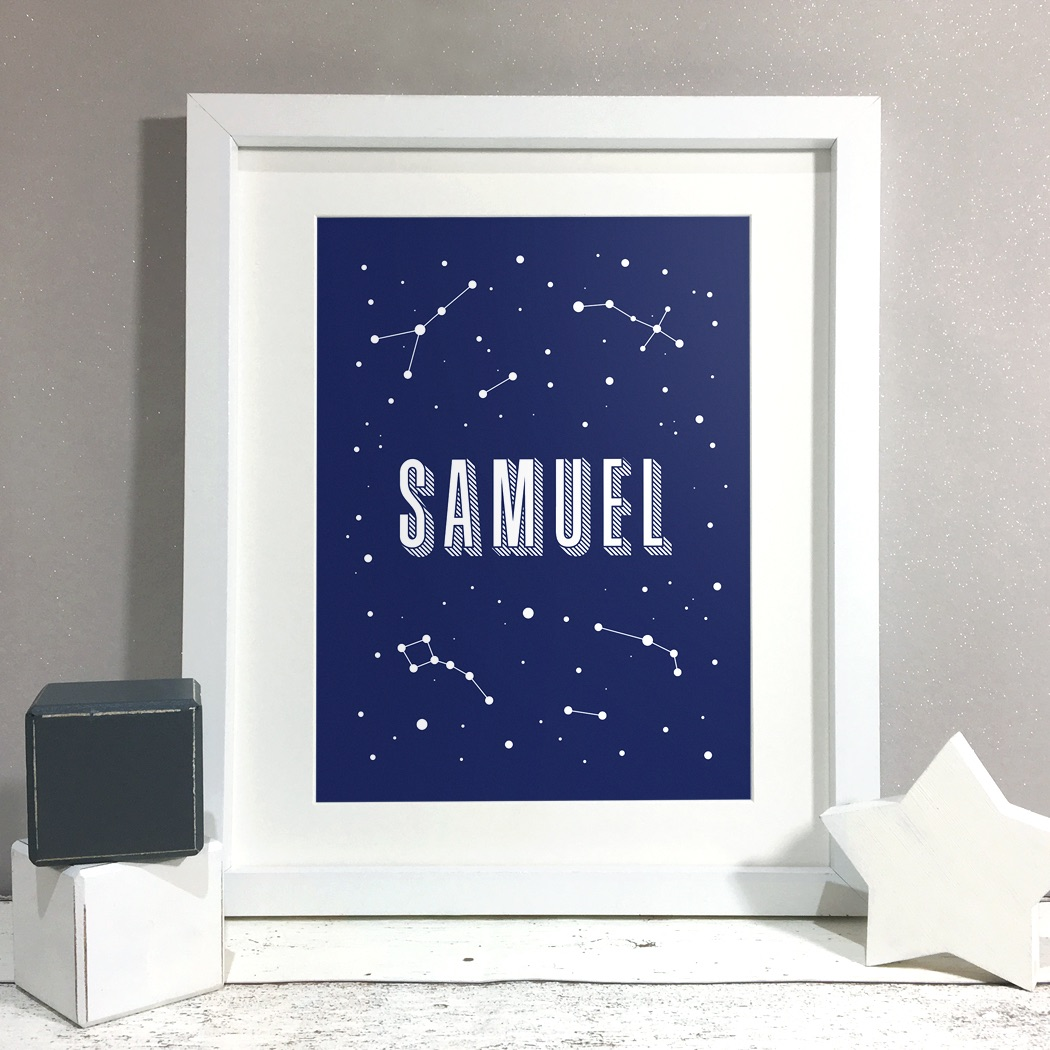 Constellation Kids Room Personalised Print