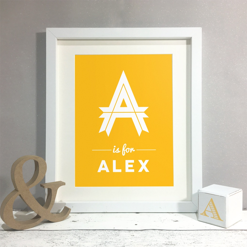 Letter Name Kids Room Personalised Print