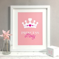 Princess Nursery Kids Room Personalised Print