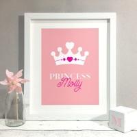 Princess Nursery Kids Room Personalised Print