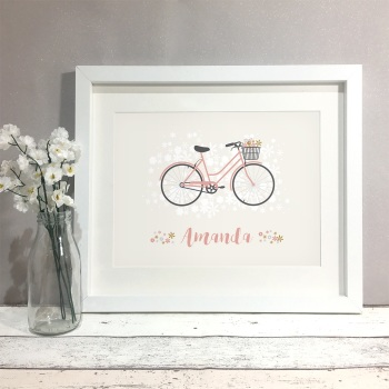 Boho Bike Personalised Print