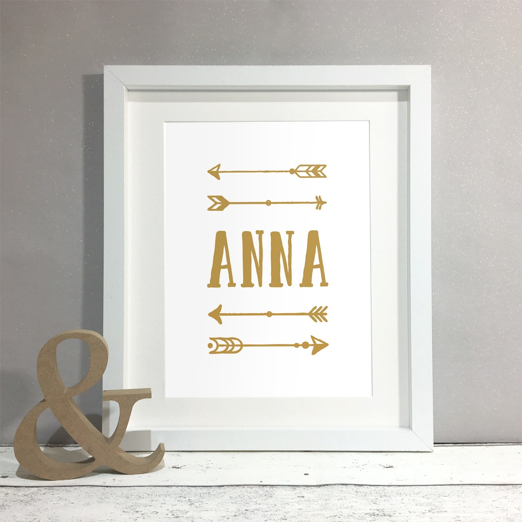 Arrows Personalised Print