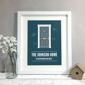 Front Door Family Home Personalised Print