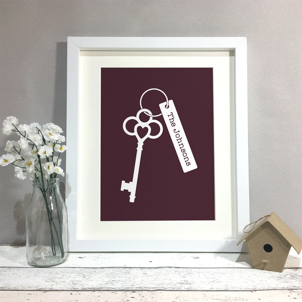Keyring Family Home Personalised Print