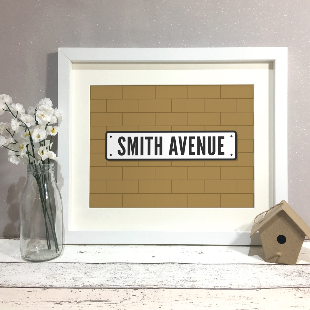 Street Sign Family Home Personalised Print