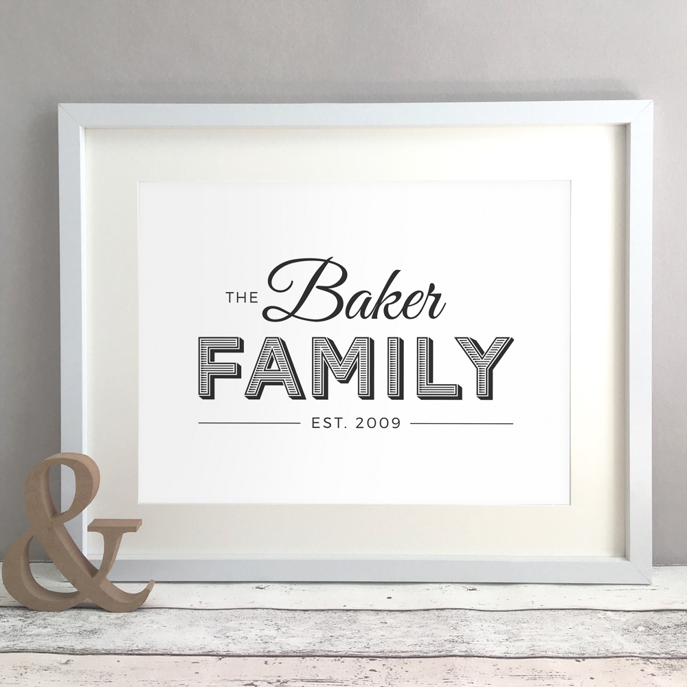 Family Name Home Personalised Print