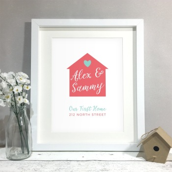 First Home Personalised Print