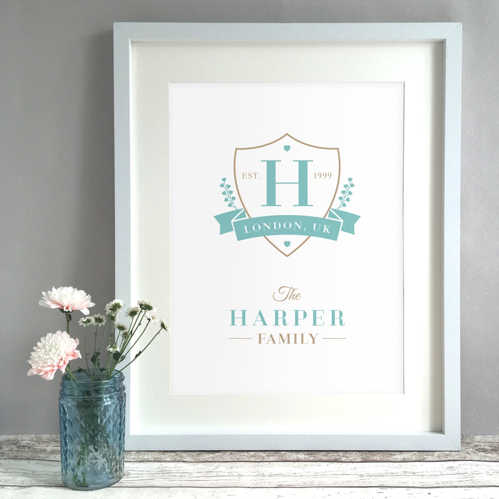 Family Crest Home Personalised Print