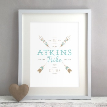 Tribe Family Home Personalised Print