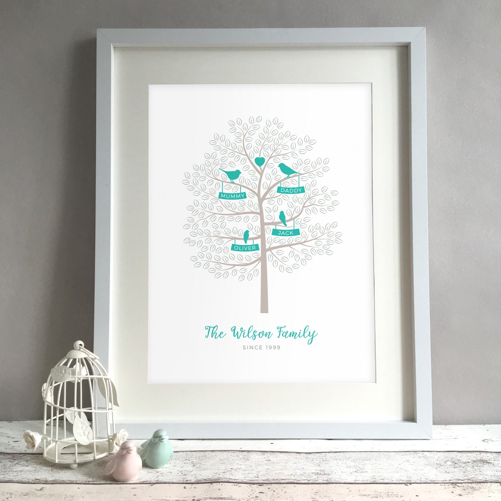 Family Tree Home Personalised Print