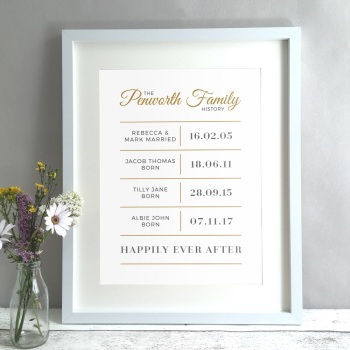 Family History Personalised Print