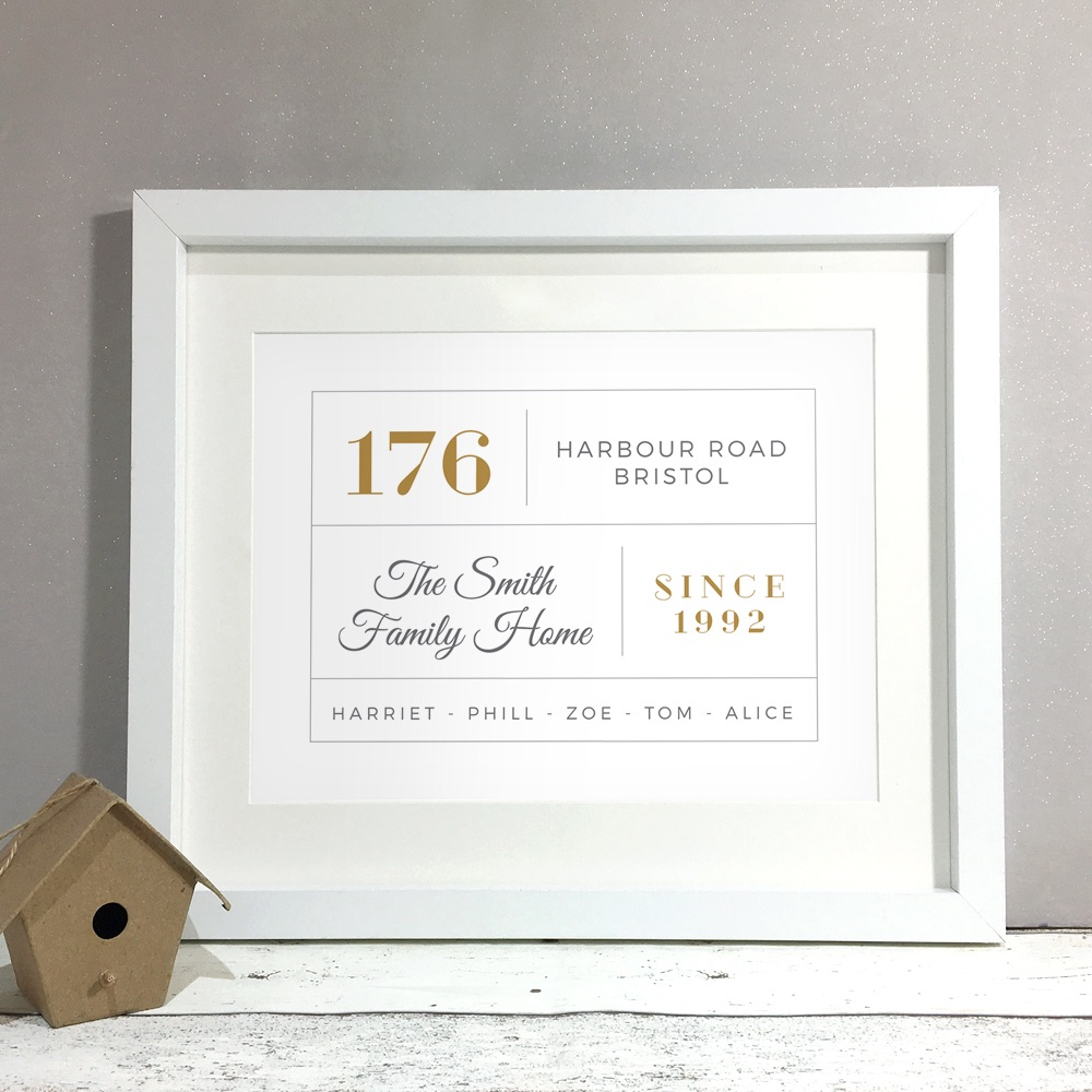 Family Details Home Personalised Print