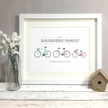 Family Bikes Personalised Print